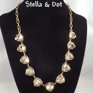 Stella and Dot Somervell Crystal Gold Necklace